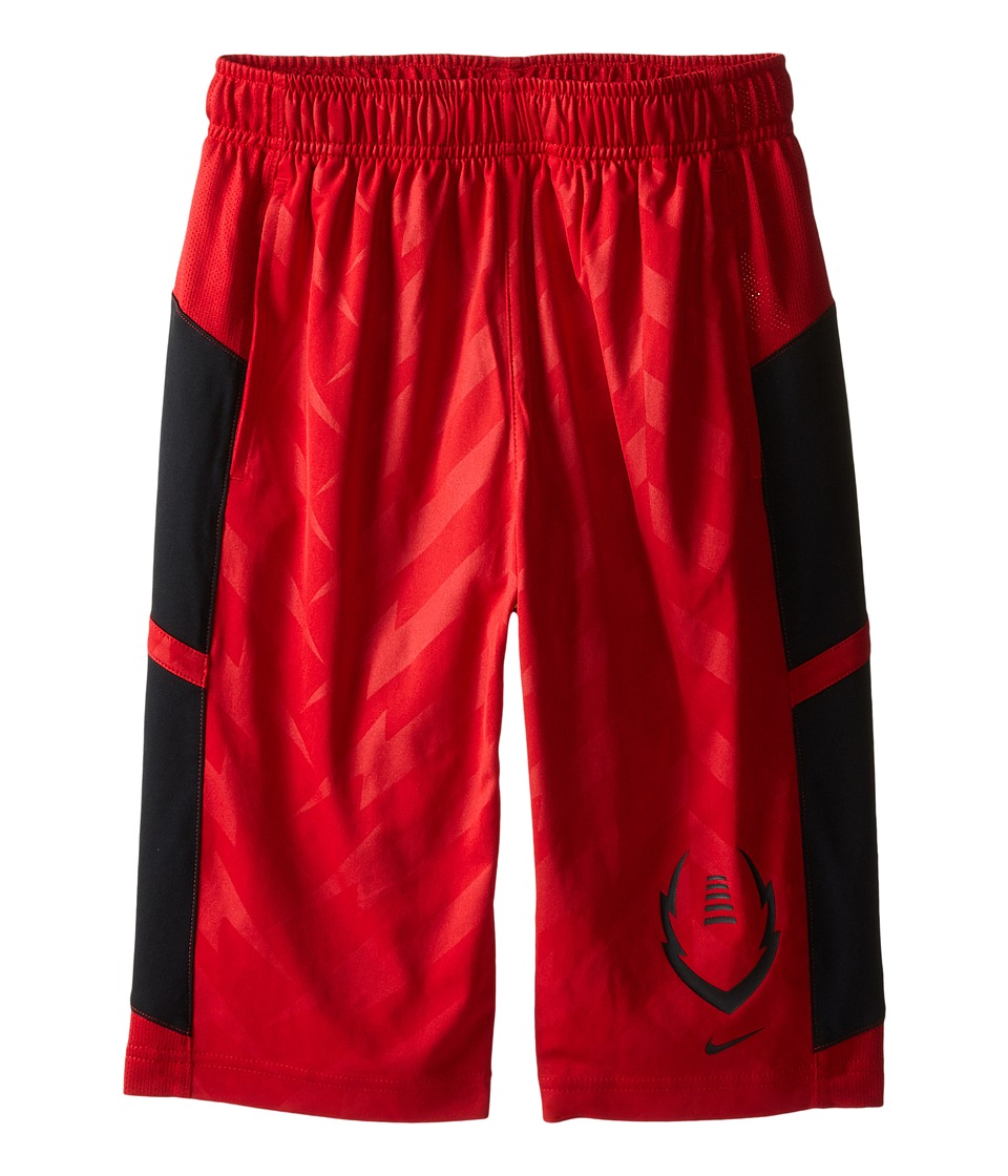 Nike Kids - Football Training Short (Little Kids/Big Kids) (Gym Red/Black/Black) Boy