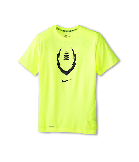 Nike Kids - Vapor Football S/S Top (Little Kids/Big Kids) (Volt/Anthracite) Boy's T Shirt