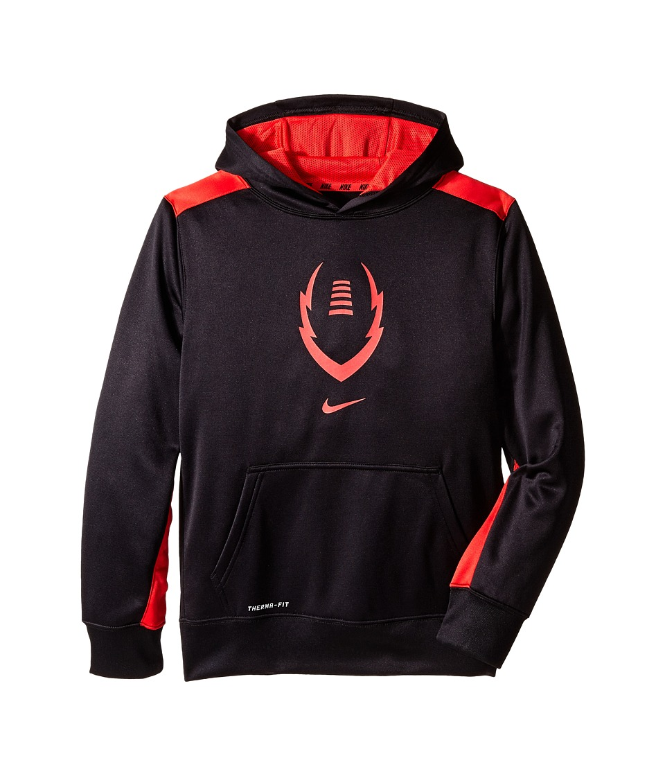Nike Kids - Ko 3.0 Ignite Football Hoodie (Little Kids/Big Kids) (Black/Daring Red/Daring Red) Boy's Sweatshirt