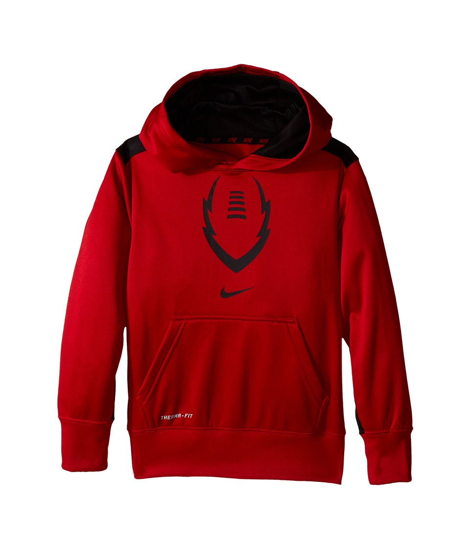 Nike Kids - Ko 3.0 Ignite Football Hoodie (Little Kids/Big Kids) (Gym Red/Black/Black) Boy