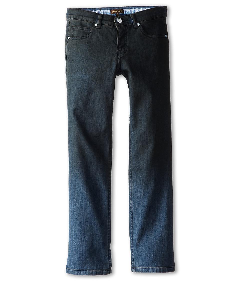 Roberto Cavalli Kids - Pants w/ Printed Logo On Back Pocket (Big Kids) (Denim) Boy's Jeans