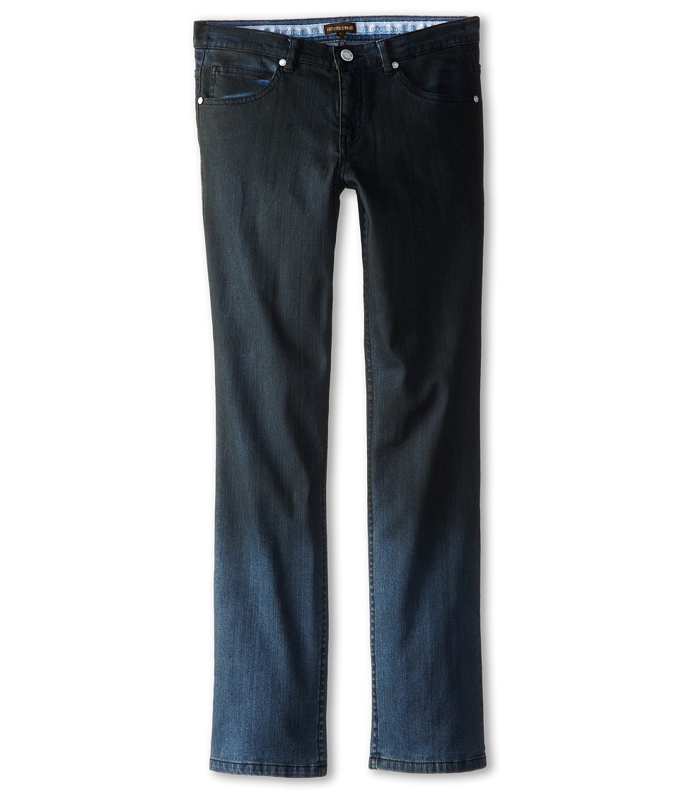Roberto Cavalli Kids - Pants w/ Printed Logo On Back Pocket (Big Kids) (Denim) Boy's Jeans