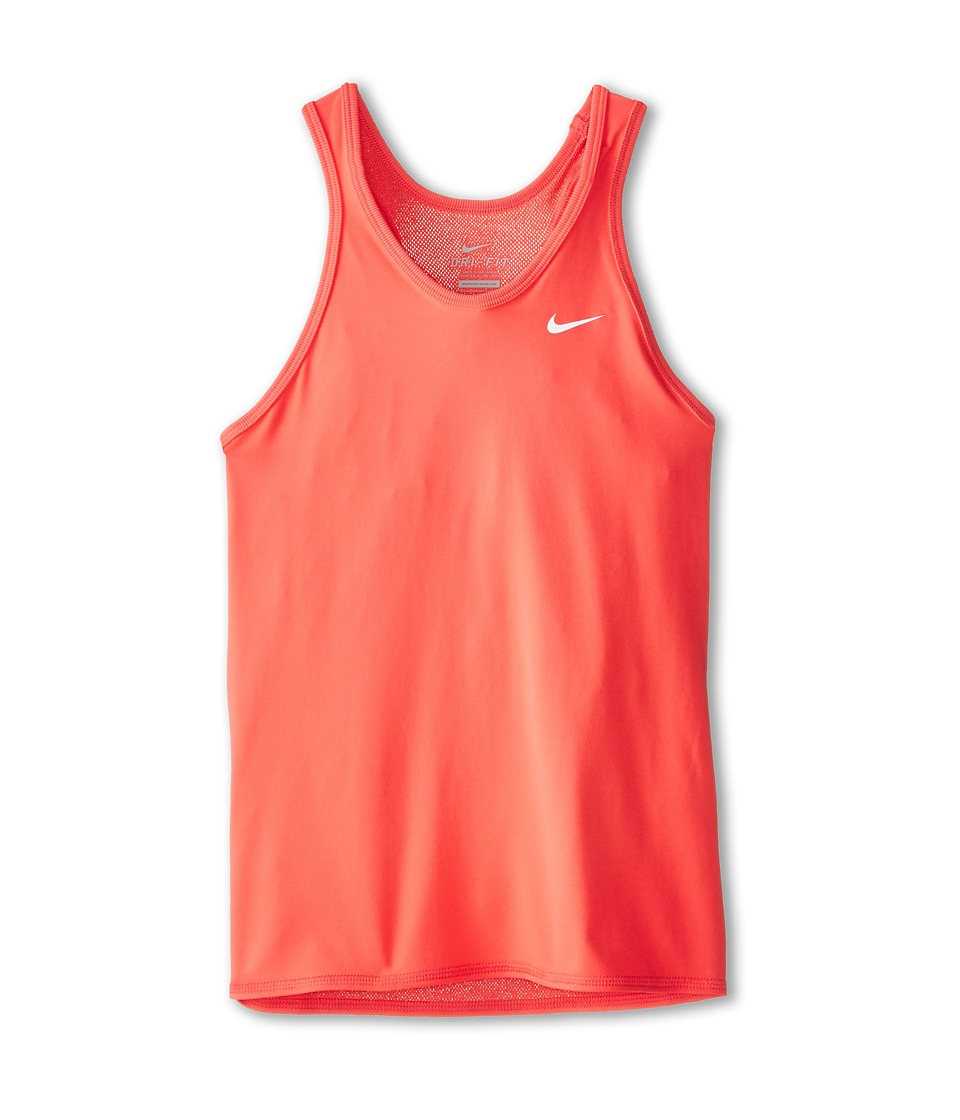 Nike Kids - Advantage Power Girls' Tennis Tank Top (Ember Glow/Ember Glow/Ember Glow/White) Girl's Sleeveless