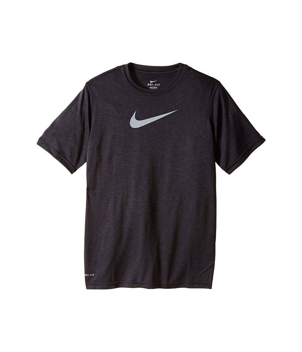 Nike Kids - Essentials Legend S/S Top (Little Kids/Big Kids) (Anthracite/Anthracite/Wolf Grey) Boy's Workout