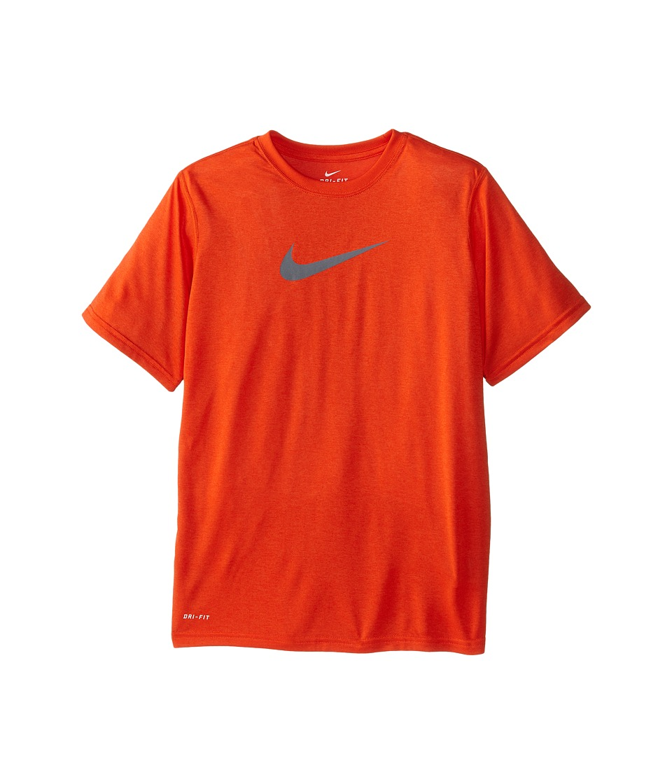 Nike Kids - Essentials Legend S/S Top (Little Kids/Big Kids) (Team Orange/Team Orange/Cool Grey) Boy's Workout