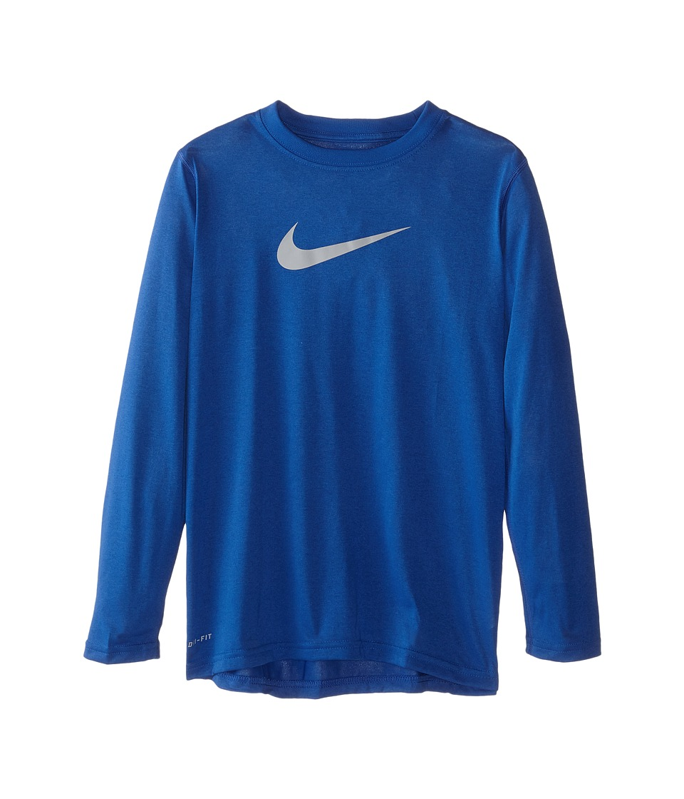 Nike Kids - Legends L/S Top (Little Kids/Big Kids) (Game Royal/Wolf Grey) Boy's Long Sleeve Pullover