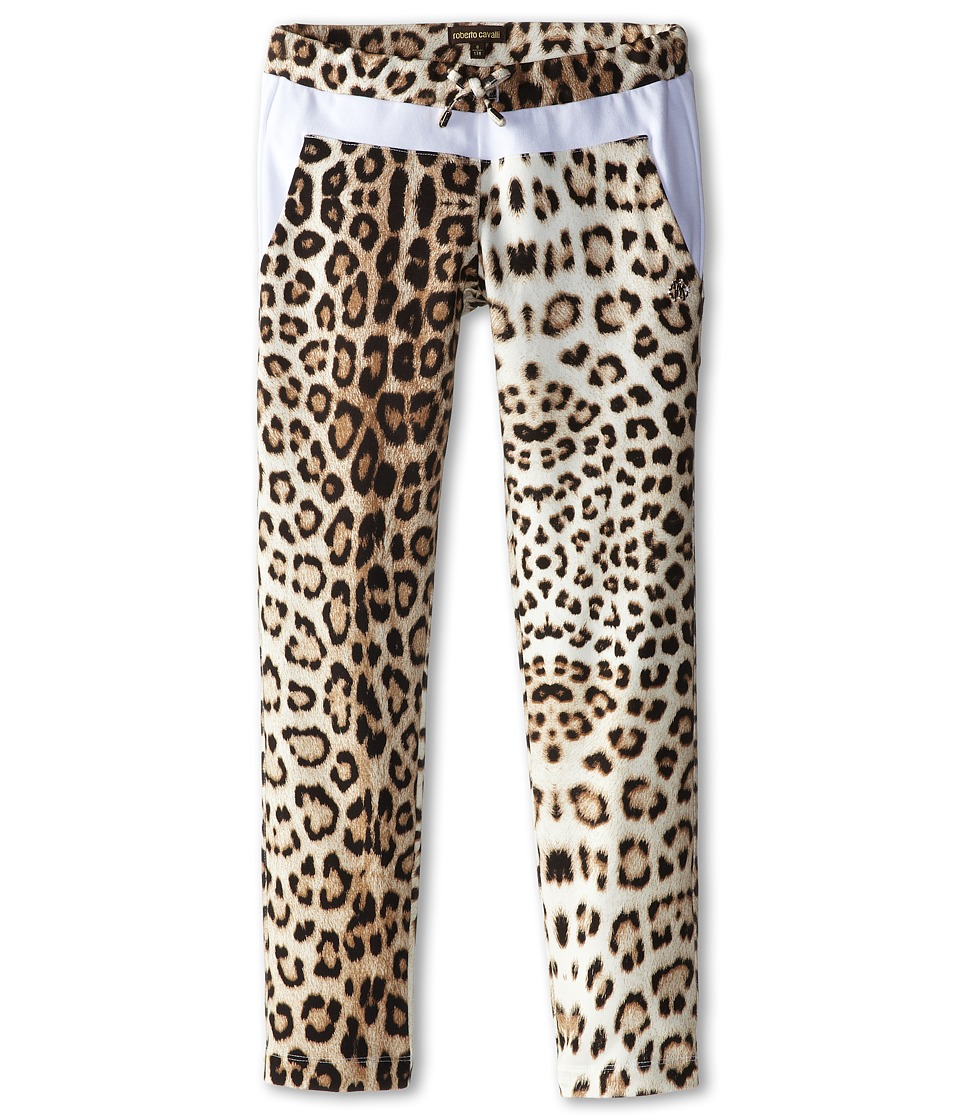 Roberto Cavalli Kids - Leopard Print Sweatpants w/ White Trim (Big Kids) (Leopard) Girl