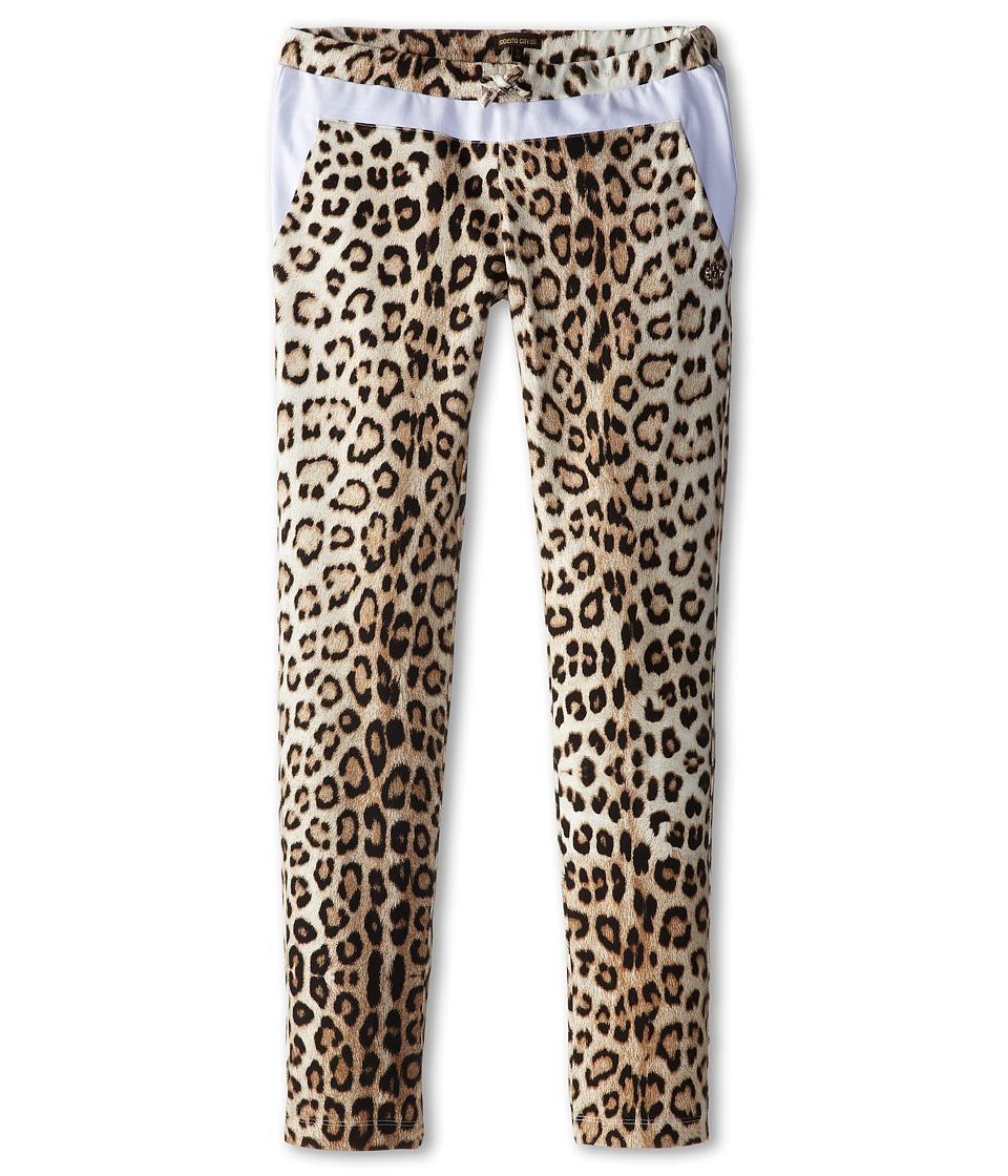 Roberto Cavalli Kids - Leopard Print Sweatpants w/ White Trim (Big Kids) (Leopard) Girl