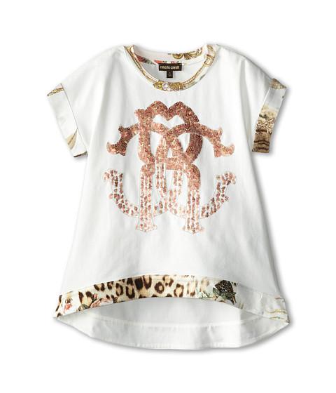 Roberto Cavalli Kids - Short Sleeve Tunic w/ Trim (Toddler/Little Kids) (Ivory) Girl