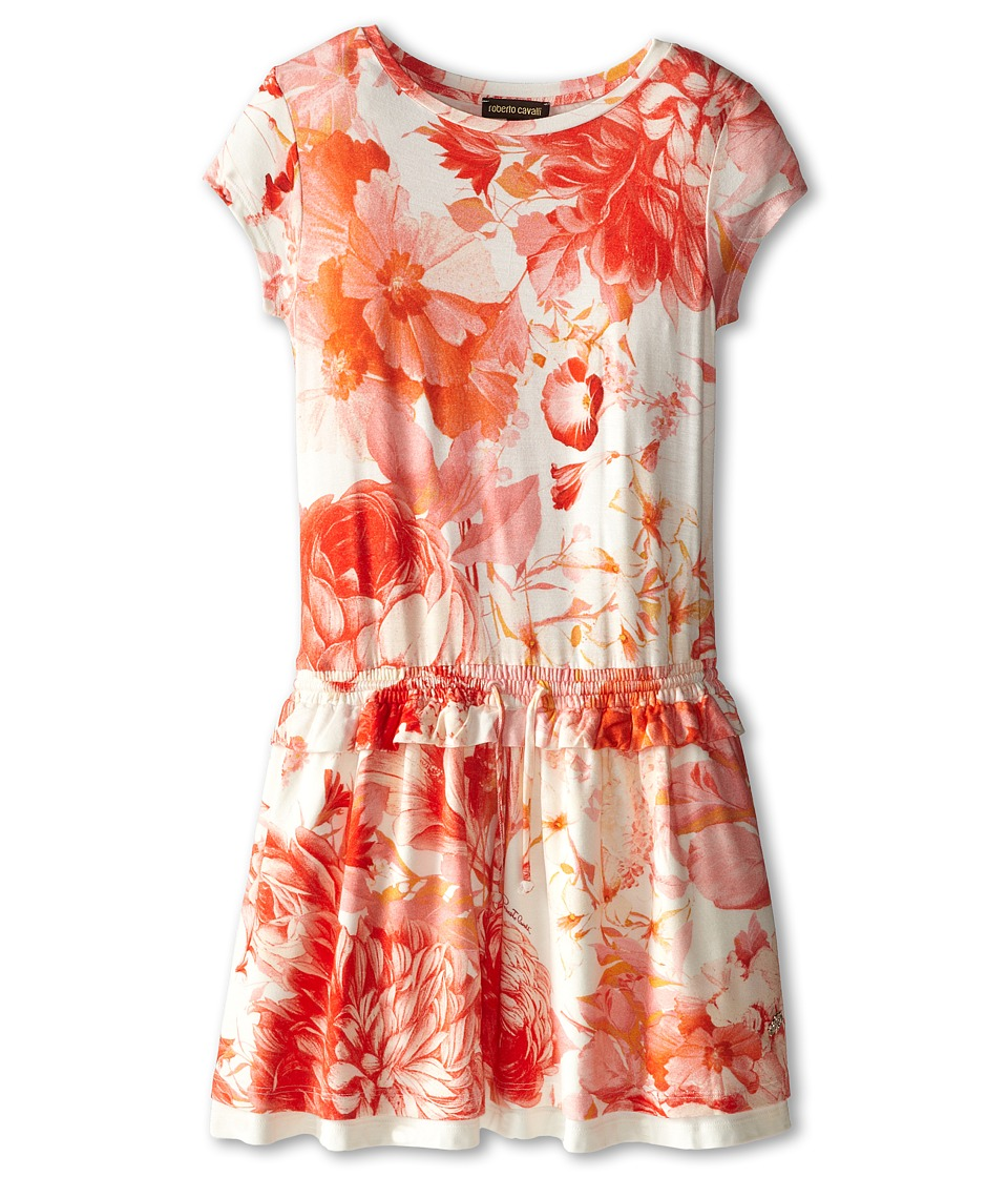 Roberto Cavalli Kids - Short Sleeve Jersey Dress w/ Elastic Waist (Big Kids) (Floral) Girl's Dress