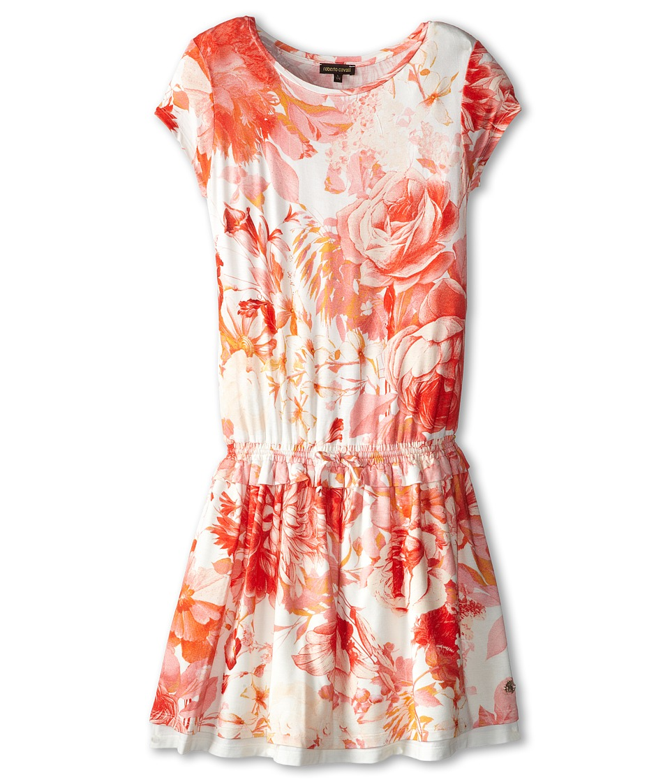 Roberto Cavalli Kids - Short Sleeve Jersey Dress w/ Elastic Waist (Big Kids) (Floral) Girl