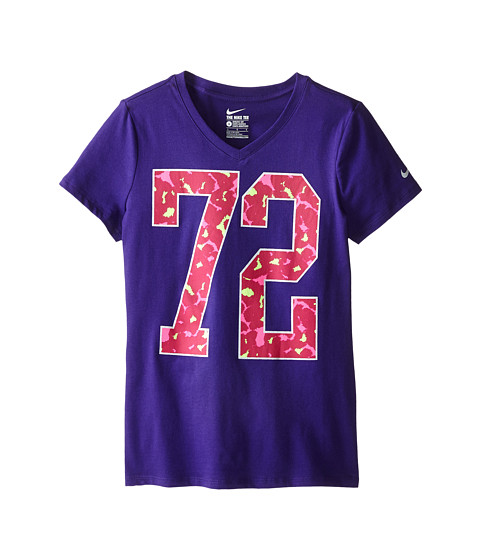 Nike Kids - Cotton V Number 72 Tee (Little Kids/Big Kids) (Court Purple/Court Purple) Girl's T Shirt