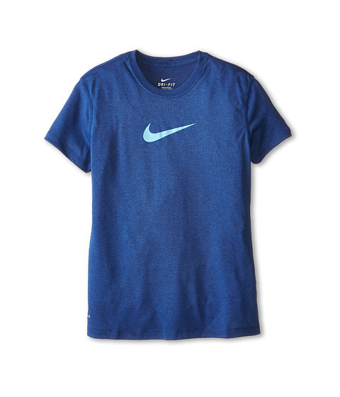 Nike Kids - Legend S/S Top (Little Kids/Big Kids) (Insignia Blue/Tide Pool Blue) Girl's T Shirt