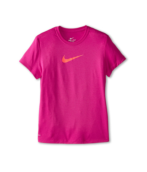 Nike Kids - Legend S/S Top (Little Kids/Big Kids) (Sport Fuchsia/Sport Fuchsia/Hot Lava) Girl's T Shirt