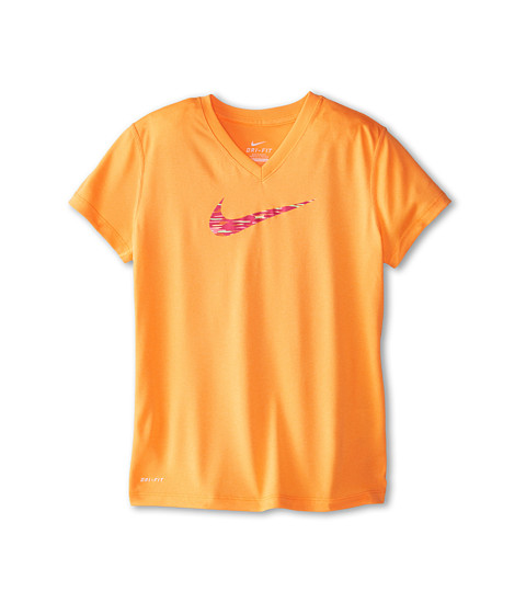 Nike Kids - Legend V-Neck Swoosh Fill 2 (Little Kids/Big Kids) (Bright Citrus/Bright Citrus) Girl
