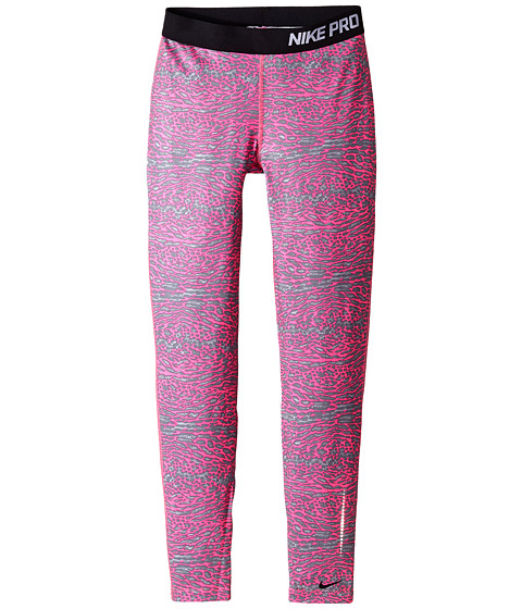 Nike Kids - Hyperwarm Flash Tights (Little Kids/Big Kids) (Pink Pow/Black/Reflective Silver/Black) Girl