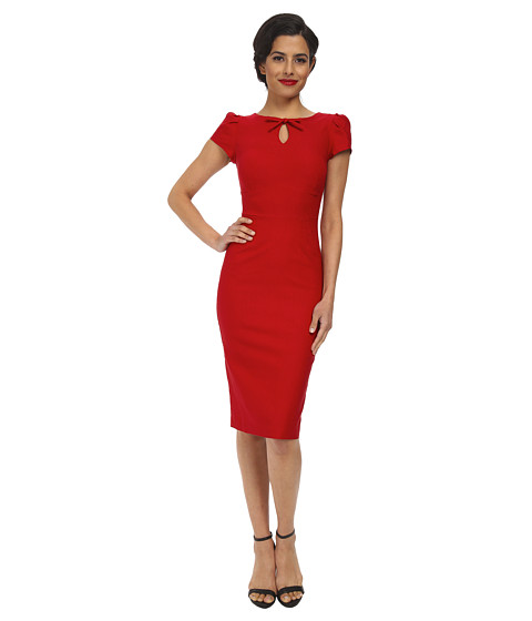 Stop Staring! - Evie Fitted Dress (Red) Women's Dress
