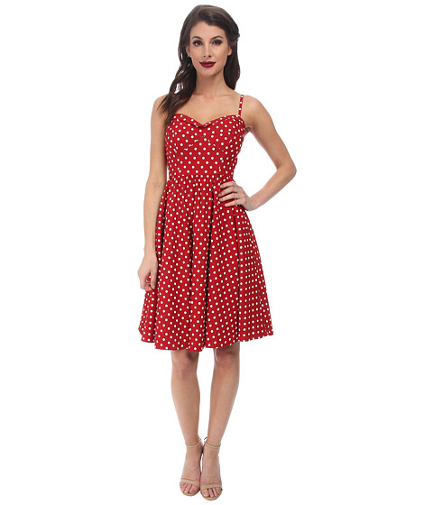 Stop Staring! - Swing Dress (Red/White Dots) Women