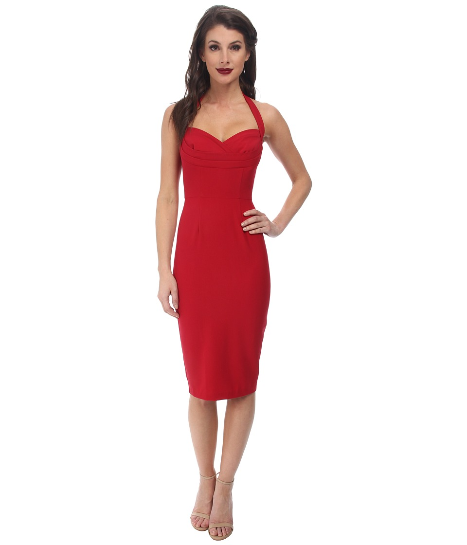 Stop Staring! - Alegra Fitted Dress (Red) Women's Dress