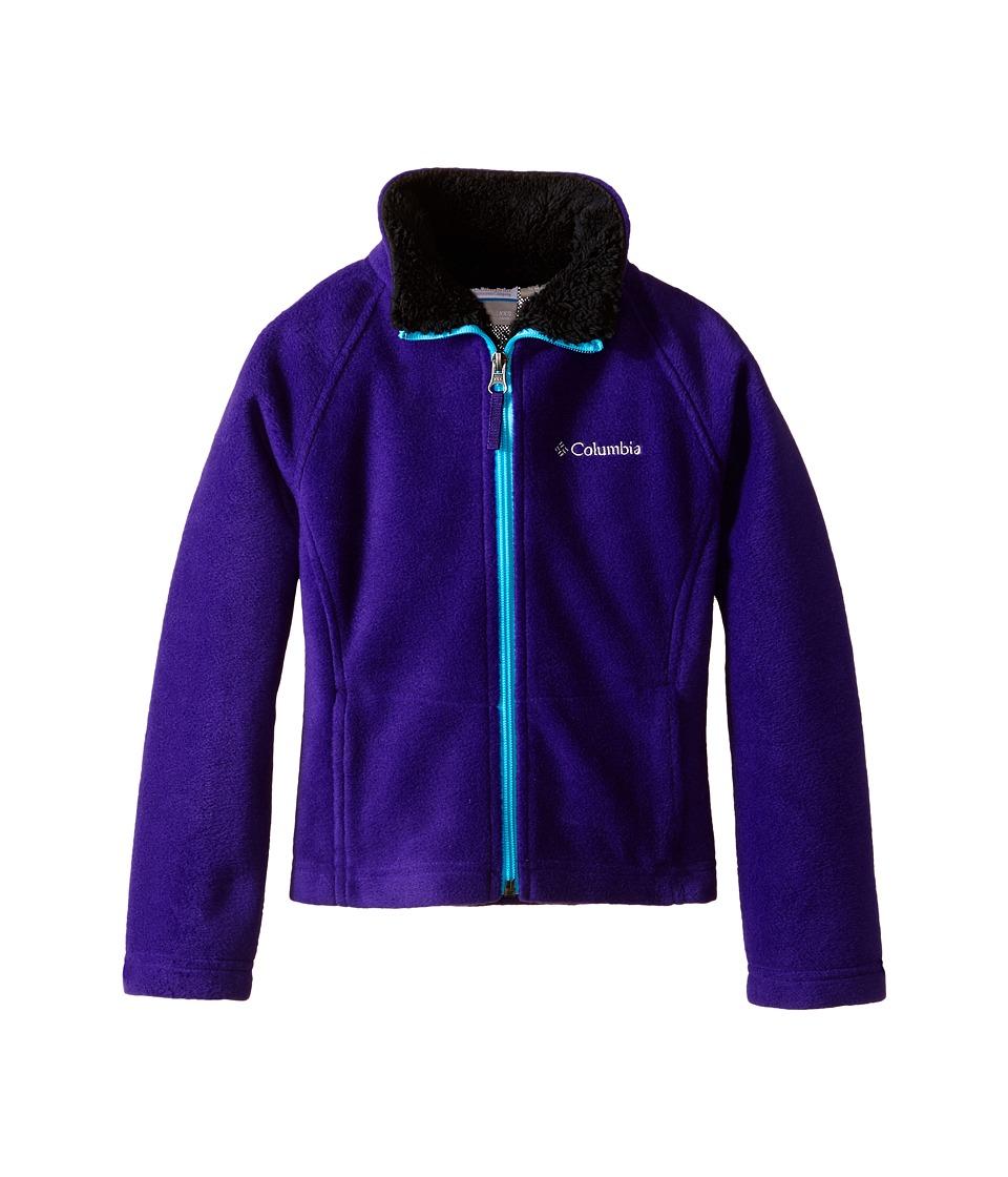 Columbia Kids - Dotswarm Full Zip Jacket (Little Kids/Big Kids) (Hyper Purple/Atoll) Girl