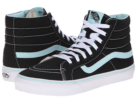 Vans - SK8-Hi Slim ((Pop) Black/Blue Tint) Skate Shoes