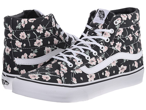 Vans - SK8-Hi Slim ((Vintage Floral) Blue Graphite) Skate Shoes