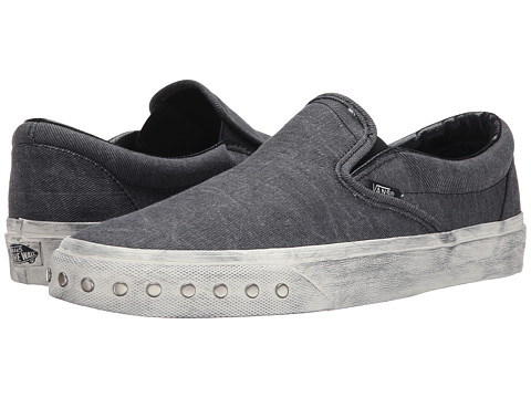 Vans - Classic Slip-On ((Overwashed) Blue Graphite) Skate Shoes