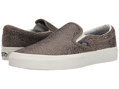 Vans - Classic Slip-On ((Cheetah Suede) Black/Tan) Skate Shoes