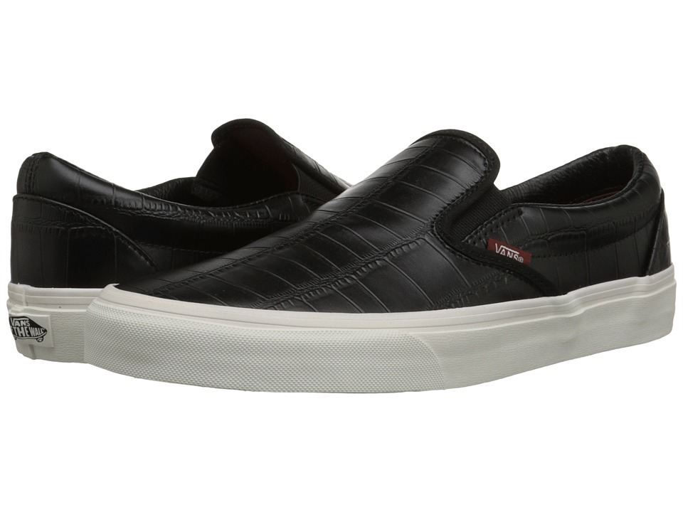 Vans - Classic Slip-On ((Croc Leather) Black) Skate Shoes