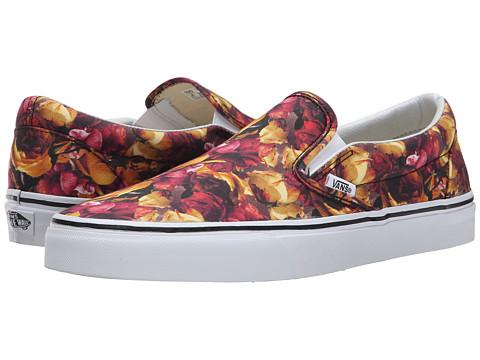 Vans - Classic Slip-On ((Digi Floral) Multi/True White) Skate Shoes