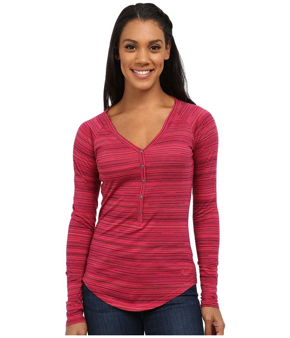 KUHL - Bella Long Sleeve Top (Fuchsia Stripe) Women's Long Sleeve Pullover