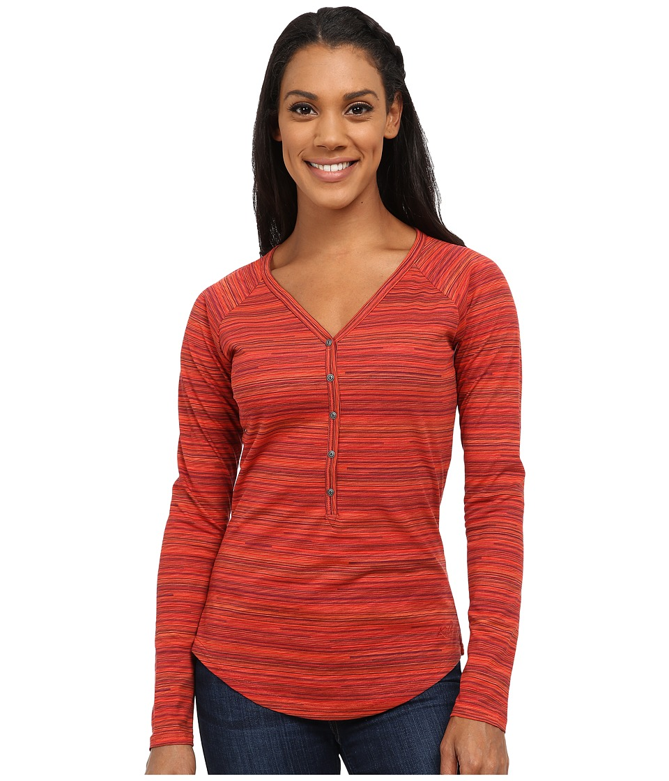 KUHL - Bella Long Sleeve Top (Paprika Stripe) Women's Long Sleeve Pullover