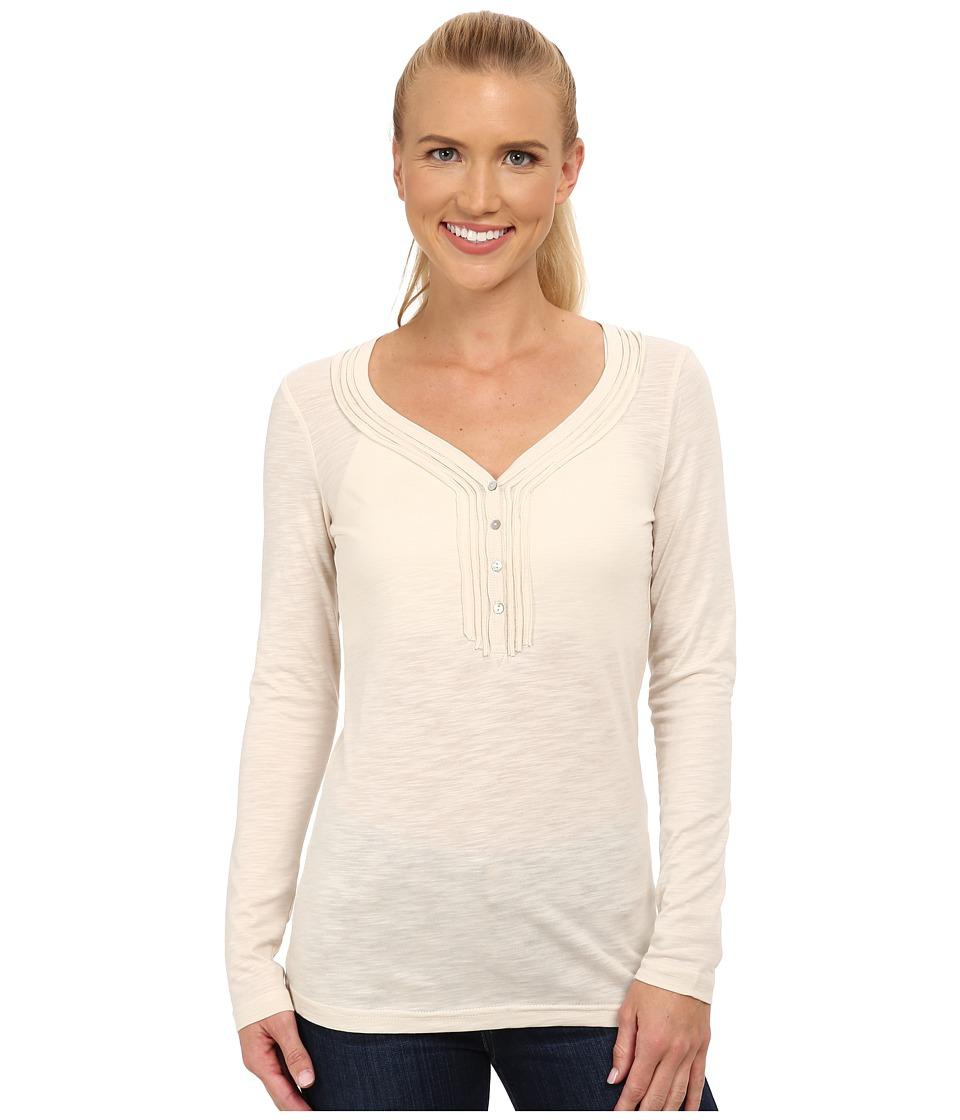 KUHL - Vega L/S Henley (Cream) Women's Long Sleeve Pullover