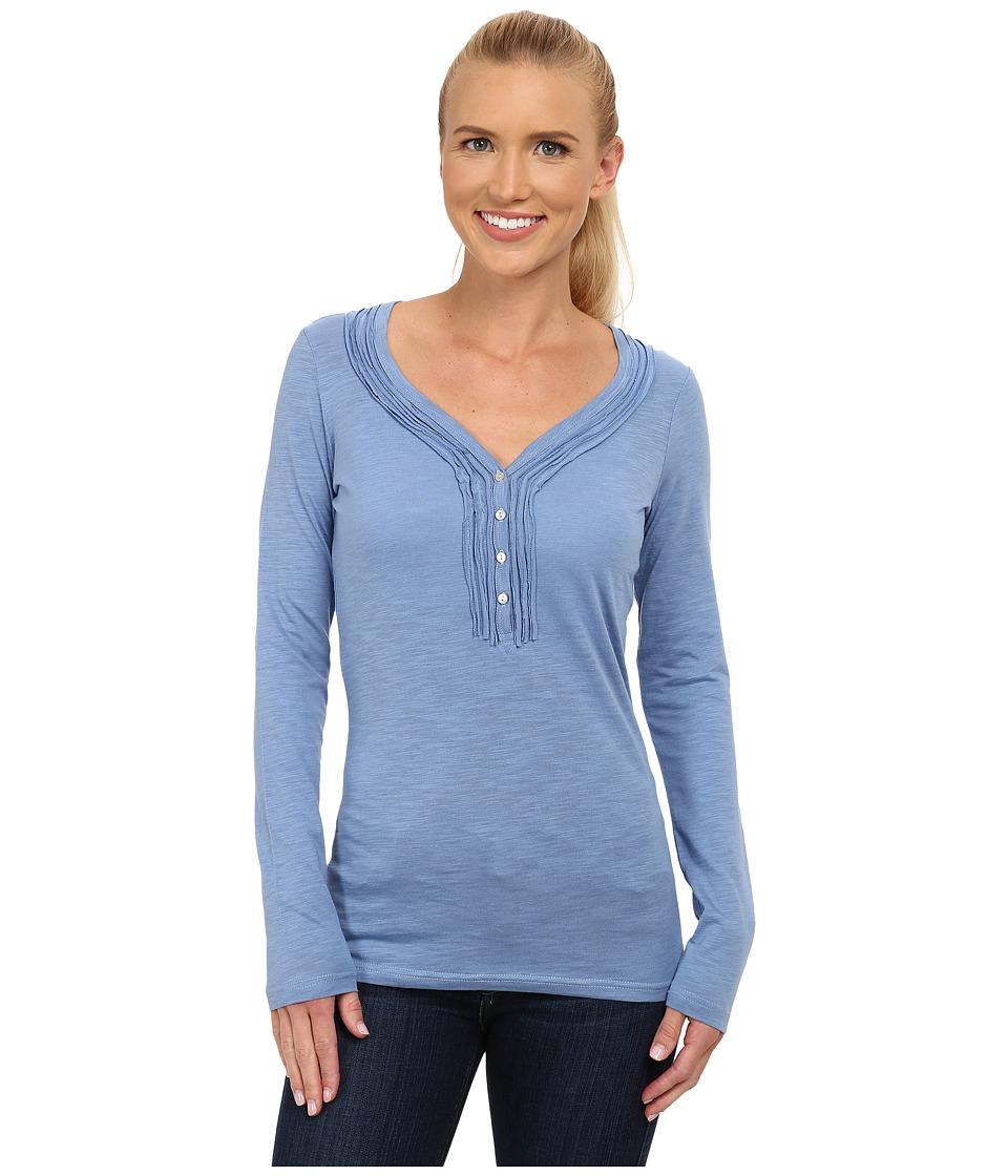 KUHL - Vega L/S Henley (Ice Blue) Women's Long Sleeve Pullover