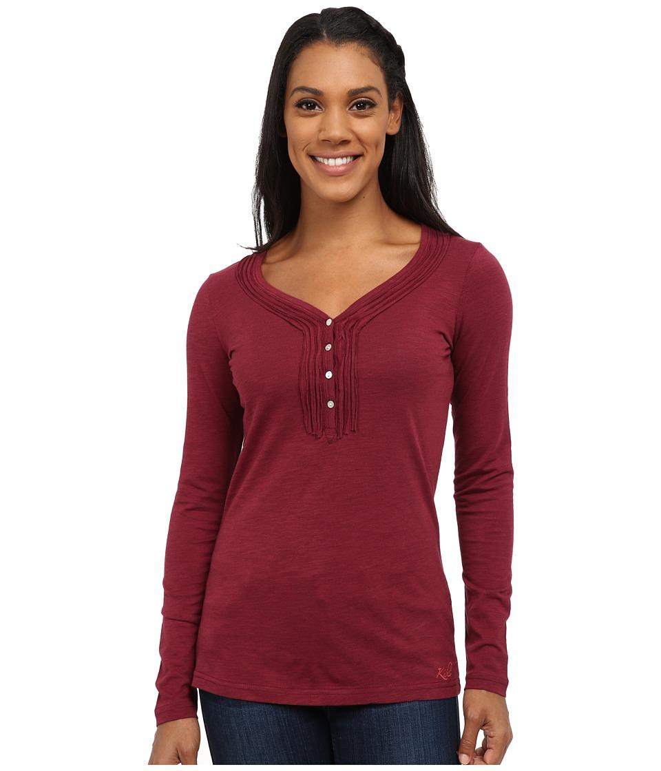 KUHL - Vega L/S Henley (Port) Women's Long Sleeve Pullover