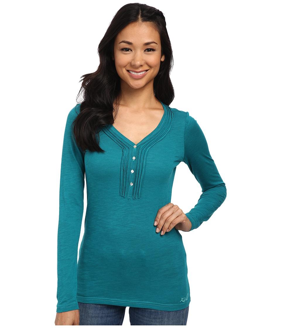 KUHL - Vega L/S Henley (Seaglass) Women's Long Sleeve Pullover