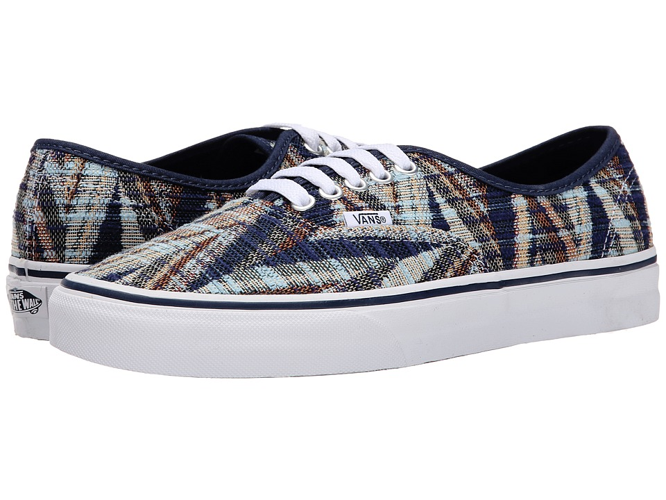 Vans - Authentic ((Woven Chevron) Dress Blues/True White) Skate Shoes
