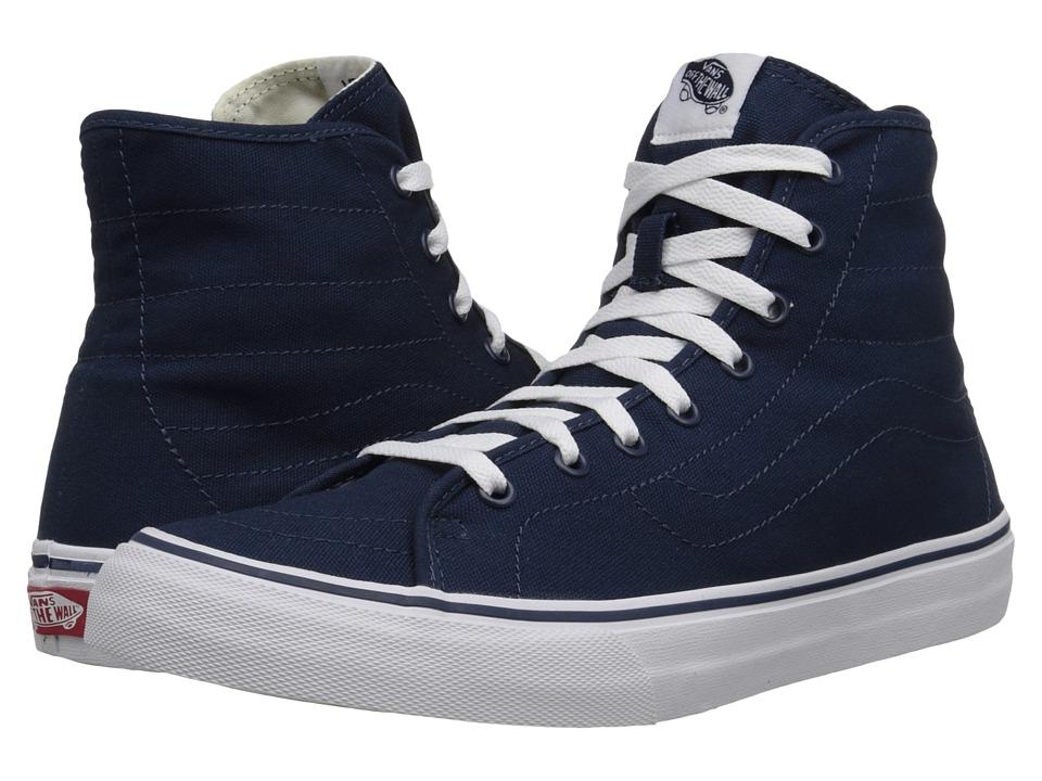 Vans - SK8-Hi Decon ((Canvas) Dress Blues/True White) Skate Shoes