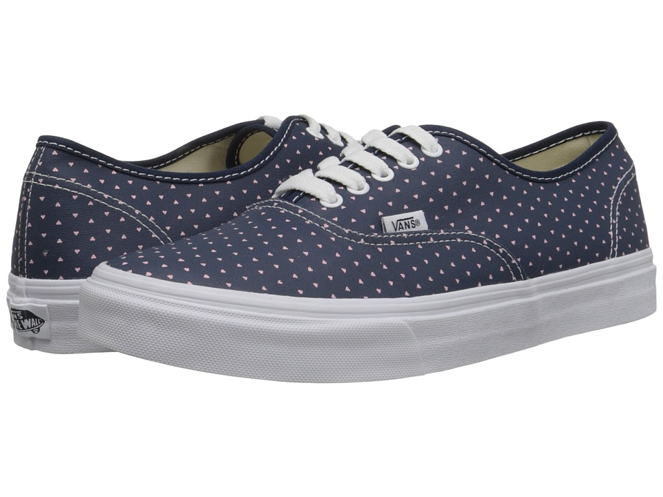 Vans - Authentic Slim ((Micro Hearts) Dress Blues/True White) Skate Shoes