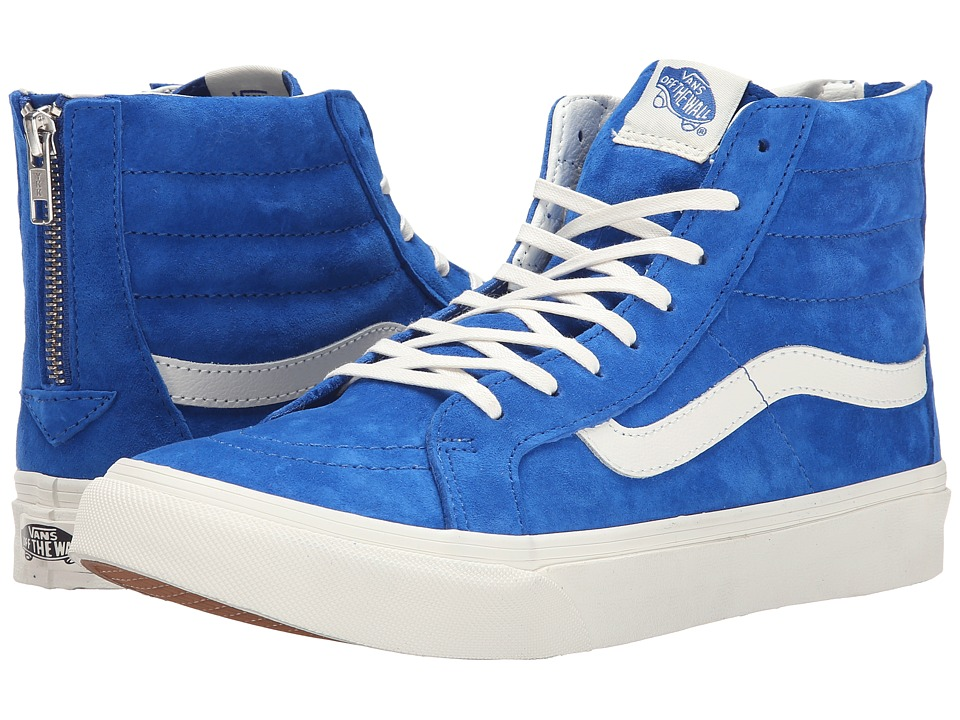 Vans - SK8-Hi Slim Zip ((Scotchgard) Blue) Skate Shoes