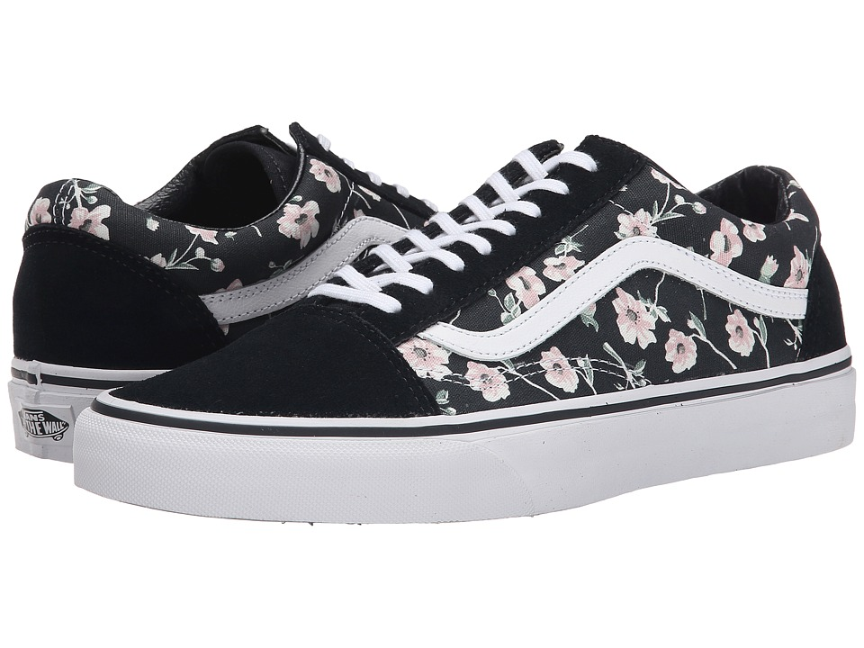 Vans - Old Skool ((Vintage Floral) Blue Graphite) Skate Shoes