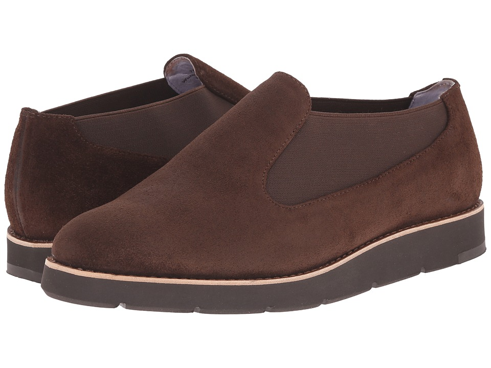 Johnston & Murphy - Bree Chelsea Bootie (Espresso Oiled Suede) Women's Boots
