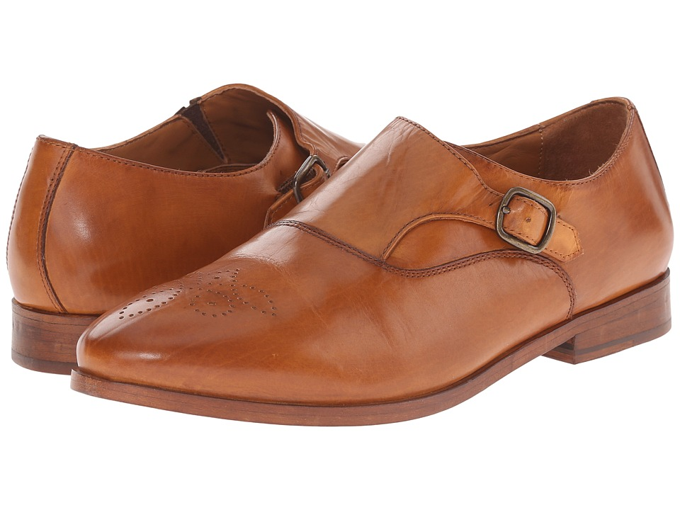 Johnston & Murphy - Dinah Monk Strap (Saddle Tan) Women's Slip on Shoes