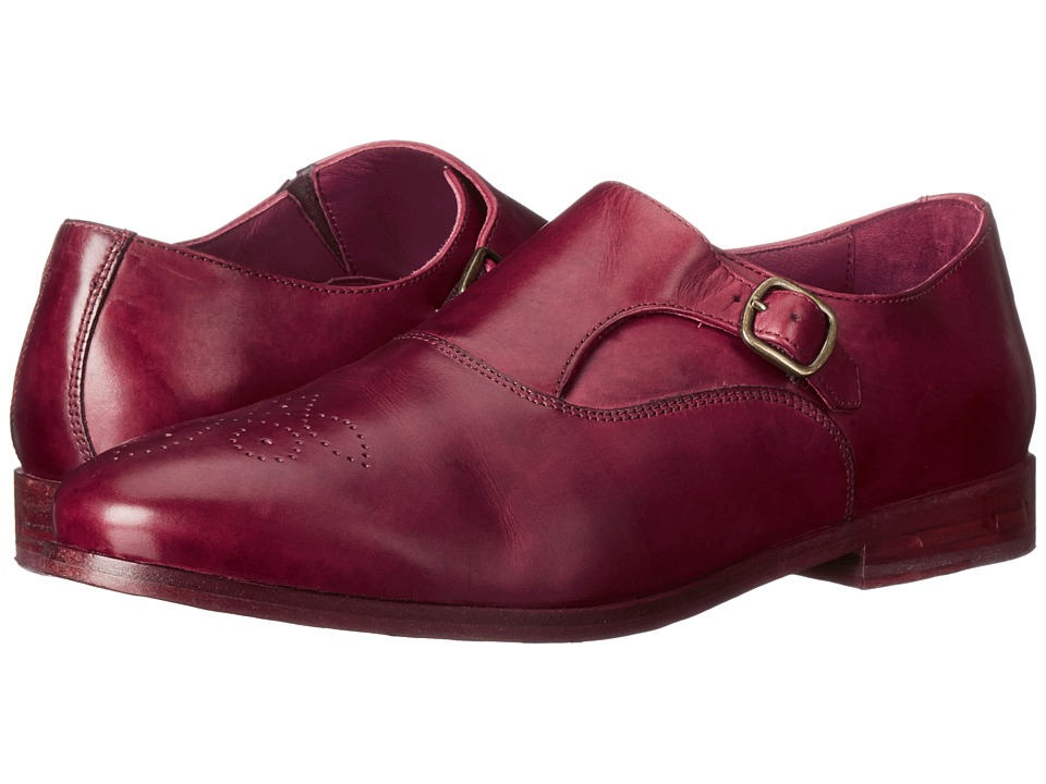 Johnston & Murphy - Dinah Monk Strap (Bordeaux) Women's Slip on Shoes