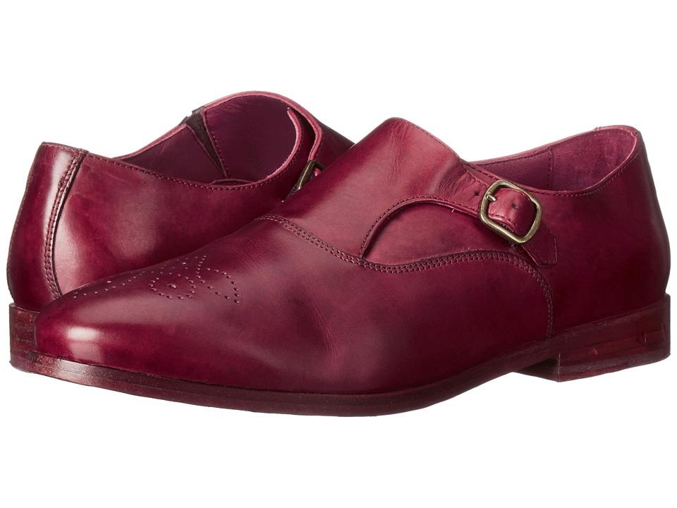 Johnston & Murphy - Dinah Monk Strap (Bordeaux) Women's Slip on Shoes