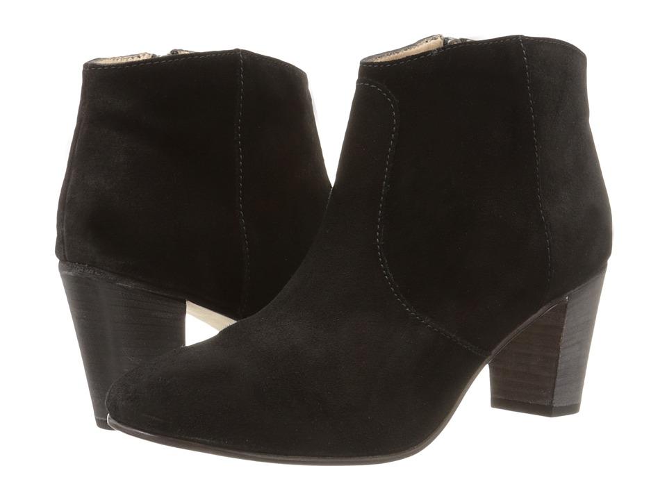 Johnston & Murphy - Etta Bootie (Black Oiled Suede) Women's Dress Pull-on Boots