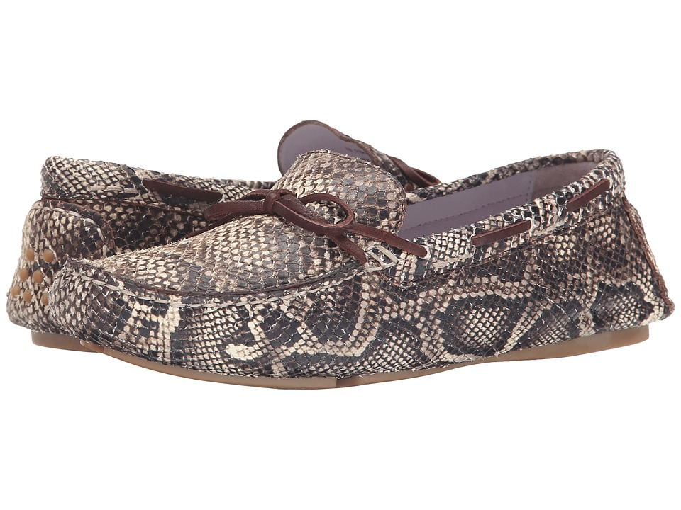 Johnston & Murphy - Maggie Camp Moc (Brown/Natural Snake Print) Women's Slip on Shoes