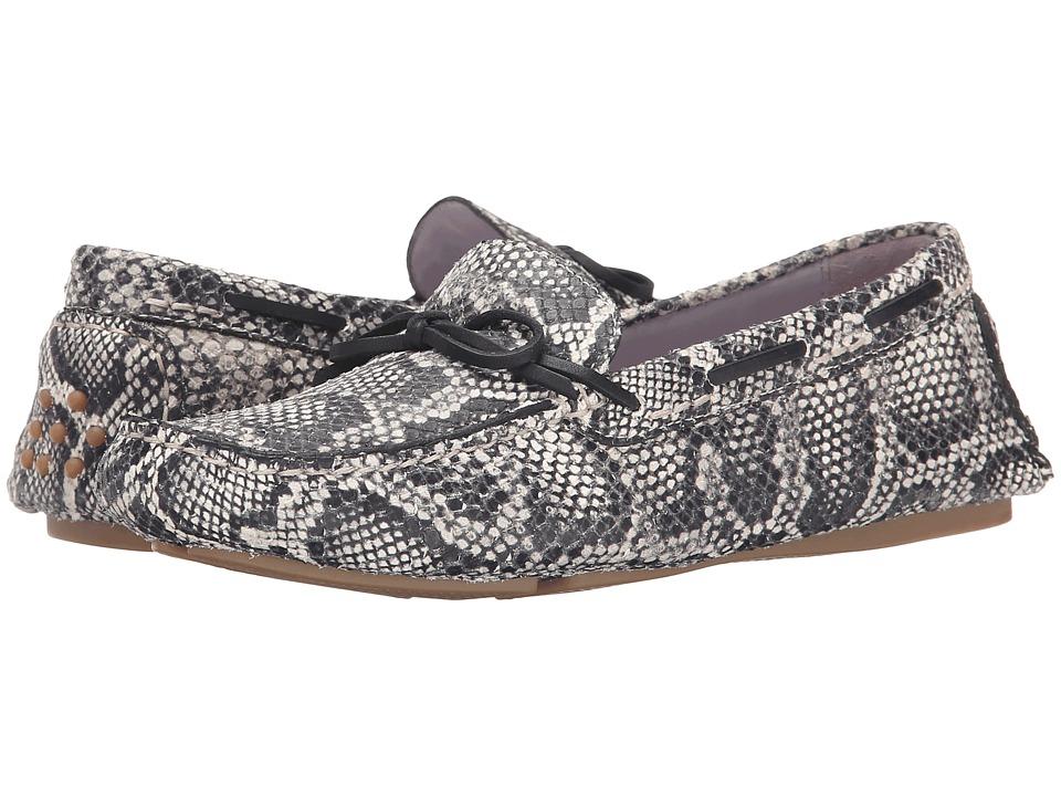 Johnston & Murphy - Maggie Camp Moc (Black/White Snake Print) Women's Slip on Shoes