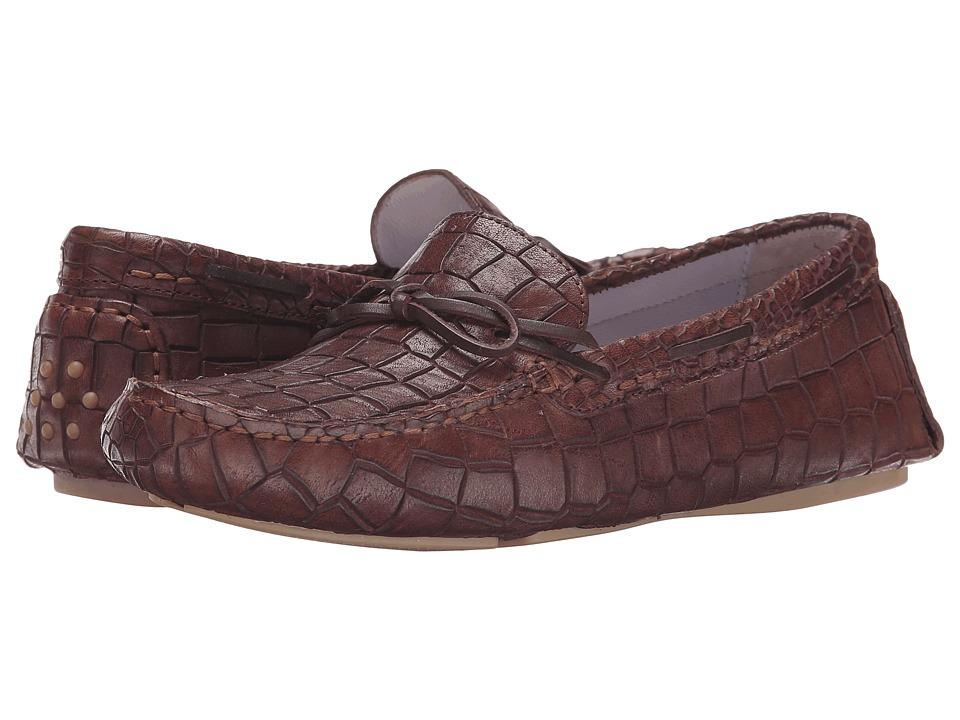 Johnston & Murphy - Maggie Camp Moc (Chestnut Croc Print) Women's Slip on Shoes