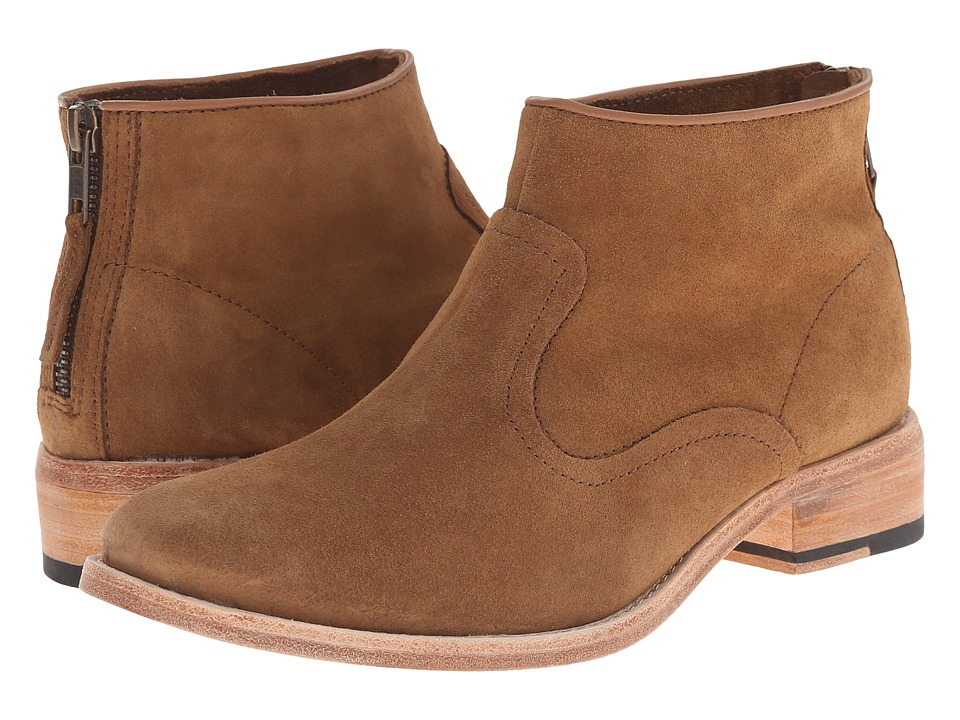 Johnston & Murphy - Susi Bootie (Tobacco Kid Suede) Women's Pull-on Boots